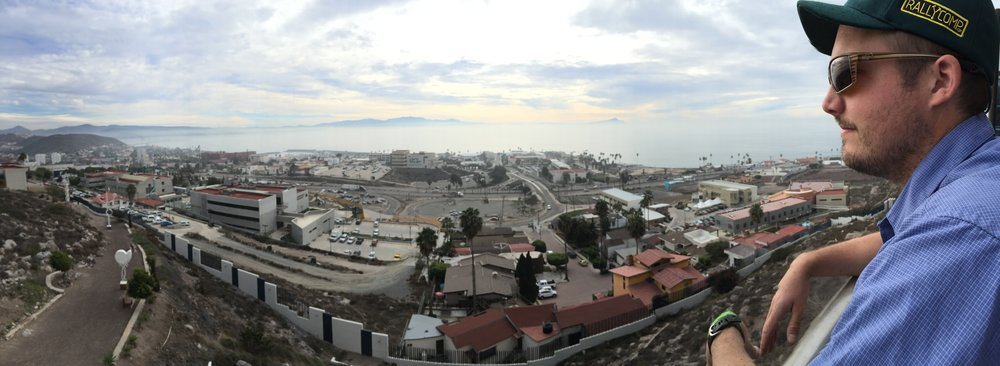 Overlooking northern Ensenada from a fantastic and mostly hidden cafateria at a local university.