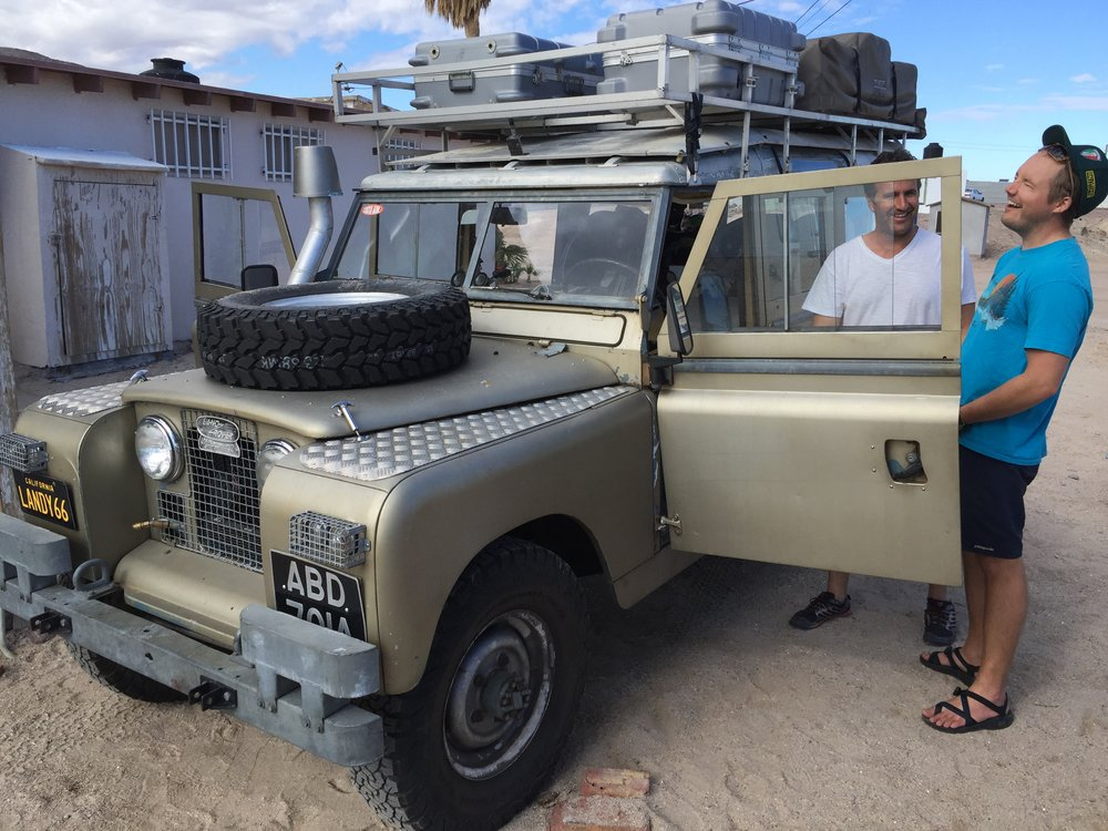 Our new friend francisco and his Land Rover with a 350! Sounds so good!