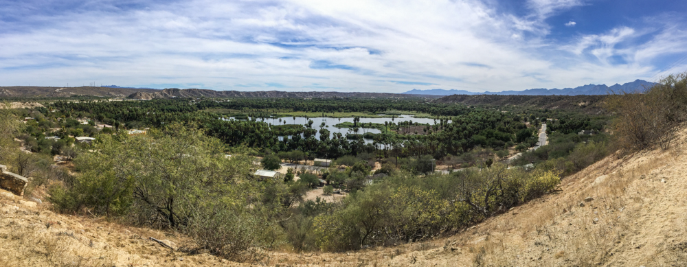 The view of Santiago from the road to Sol de Mayo. A real oasis!