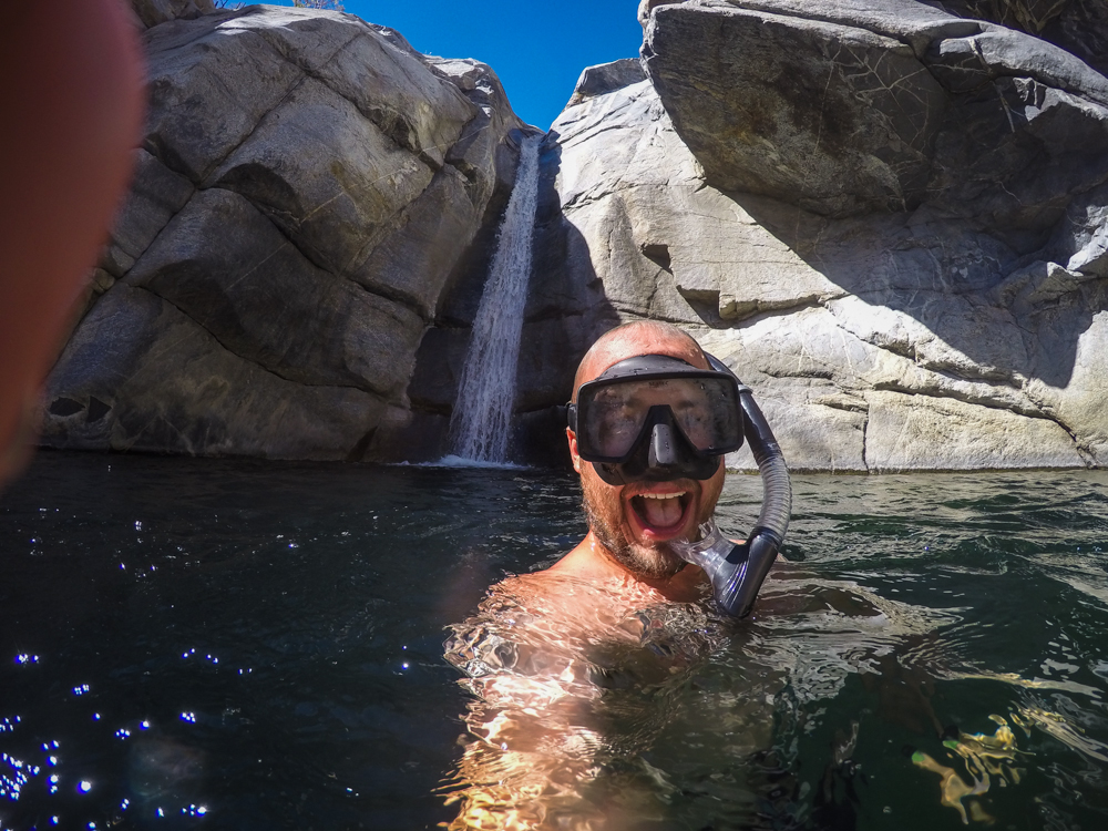 Snorkeling by the Falls.