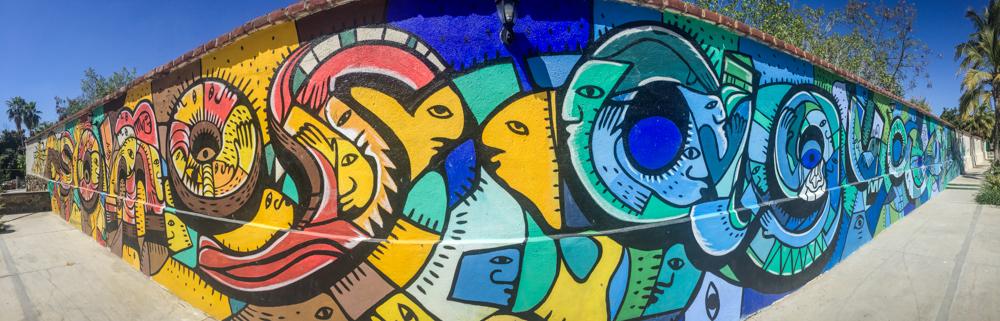Some beautiful street art in Todos Santos.