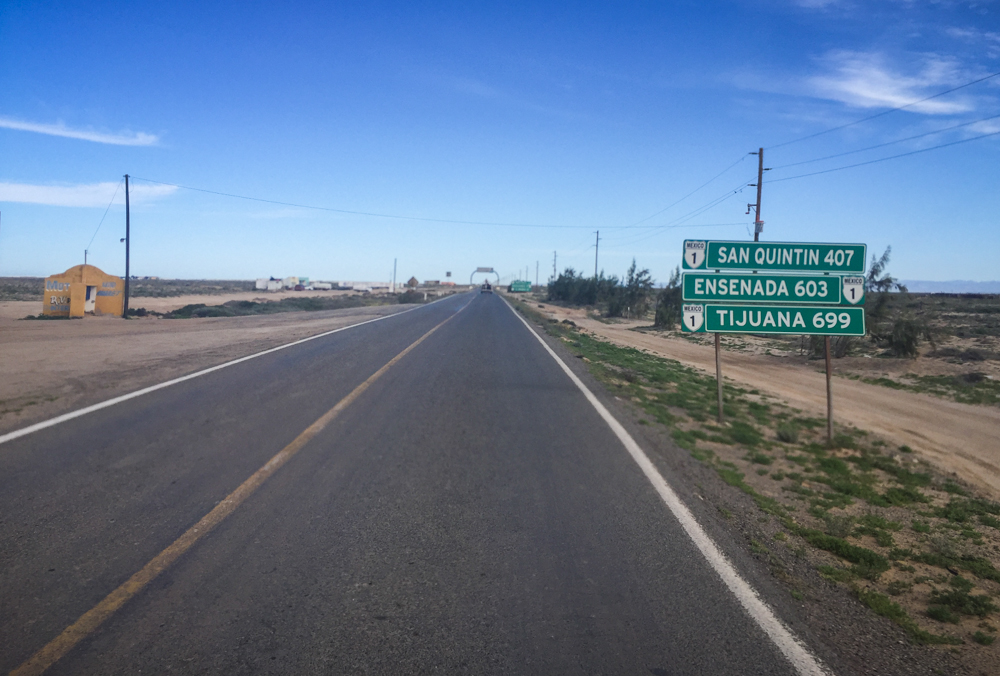 Ensenada finally started showing up on highway signs!