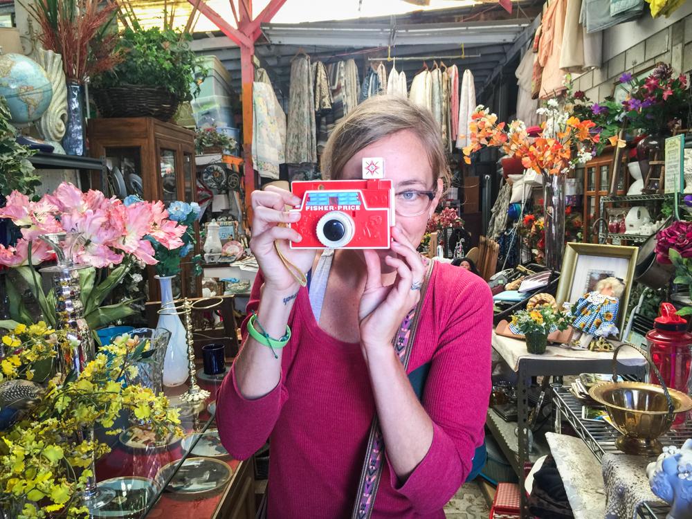 Chels found a camera!