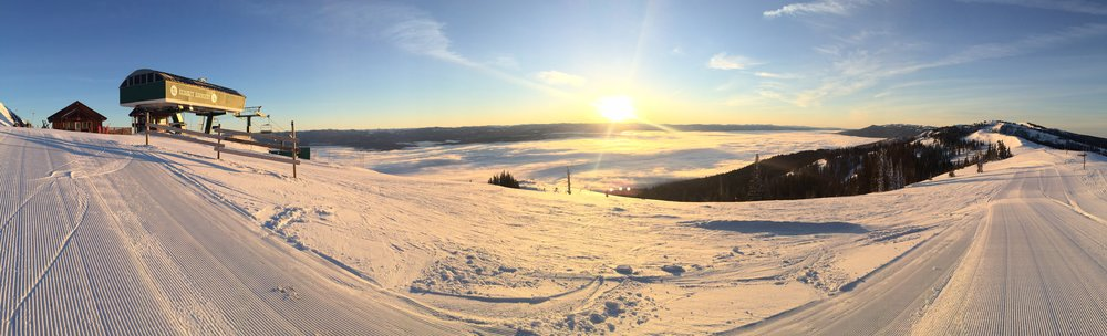 A beautiful sunrise view from the summit of Tamarack during one of Christian's patrol shifts.