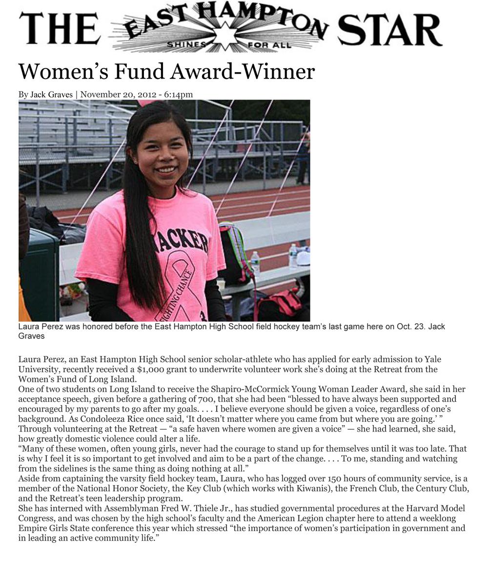 9a  Womens Fund Winner Laura Perez.jpg