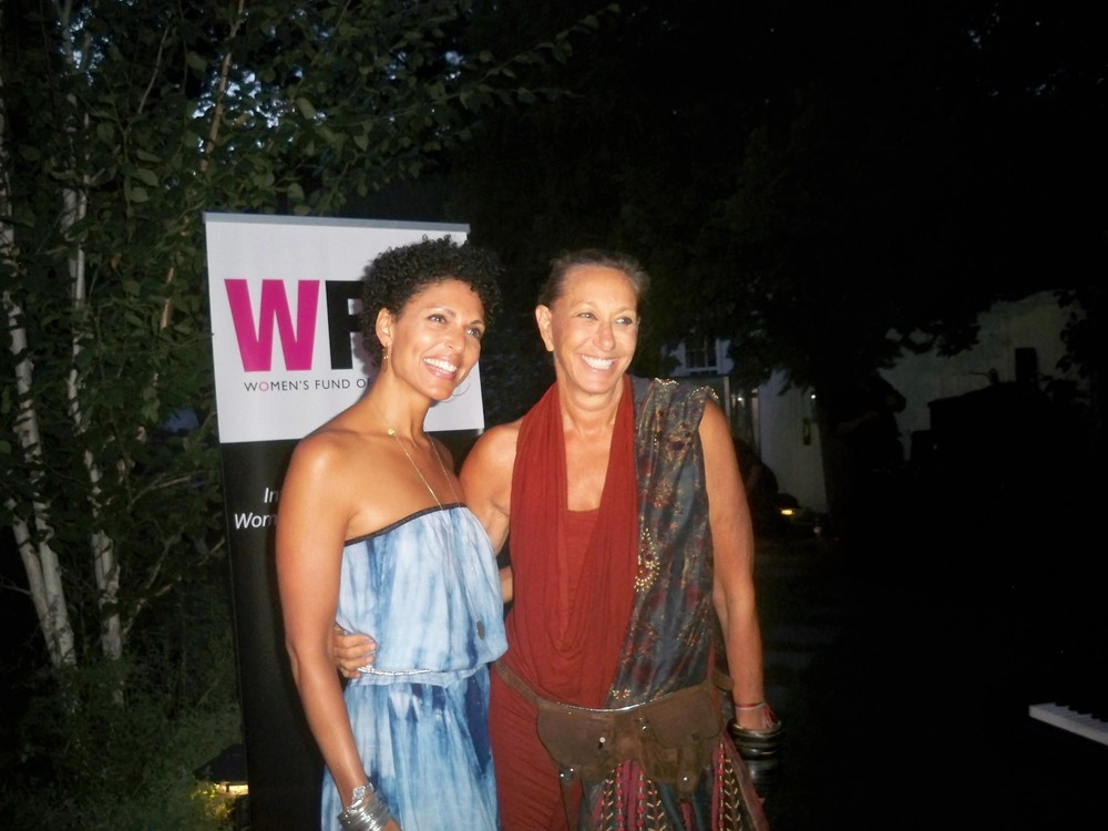 Stacey Scarpone and Donna Karan