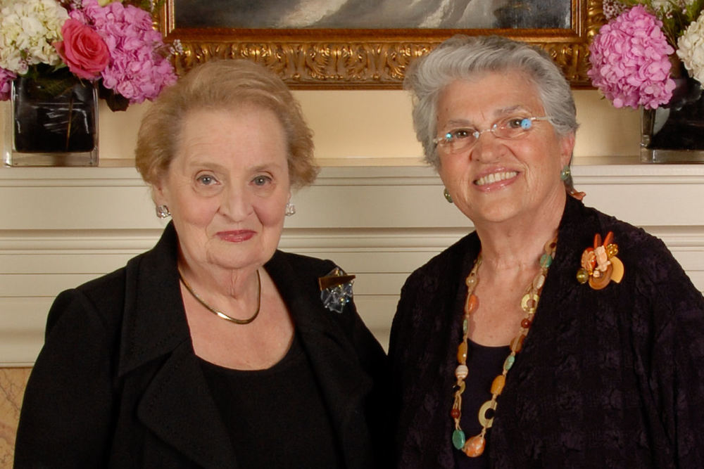 Madeleine Albright and Amy Hagedorn