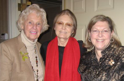 Lillian McCormick, Gloria Steinem and Dana Friedman