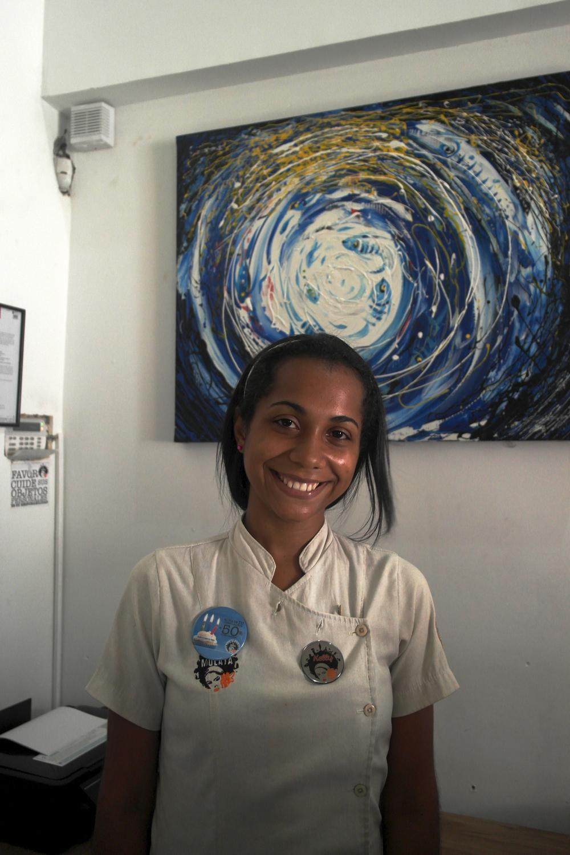Lovely waitress at La Mulata