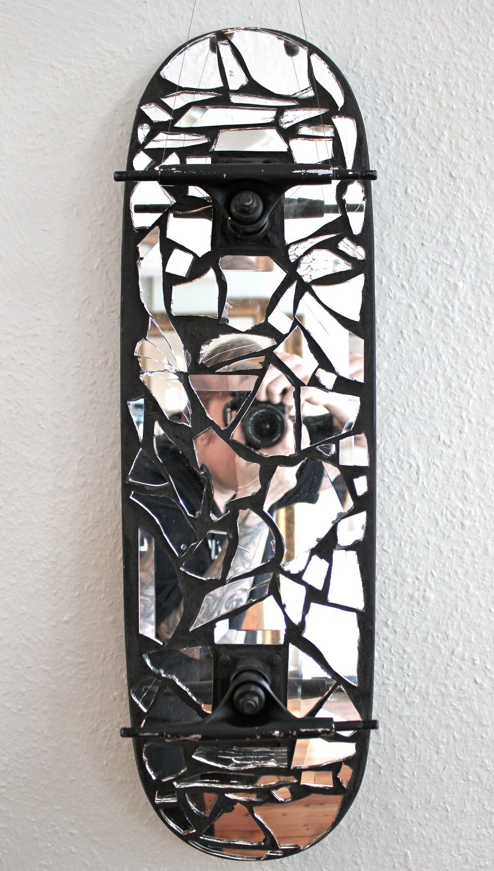 Mirror on Skateboard
