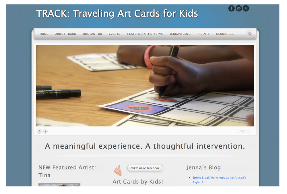 TRACK Traveling Art Cards for Kids is an intervention-based program that brings the exciting Art Card experience to diverse groups of youth. Our priority is to create a safe & structured environment that engages youth in a high-quality, meaningful art experience.