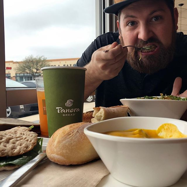 @panerabread is the best! Having fun with this guy before heading back to Abilene! #bigcityliving