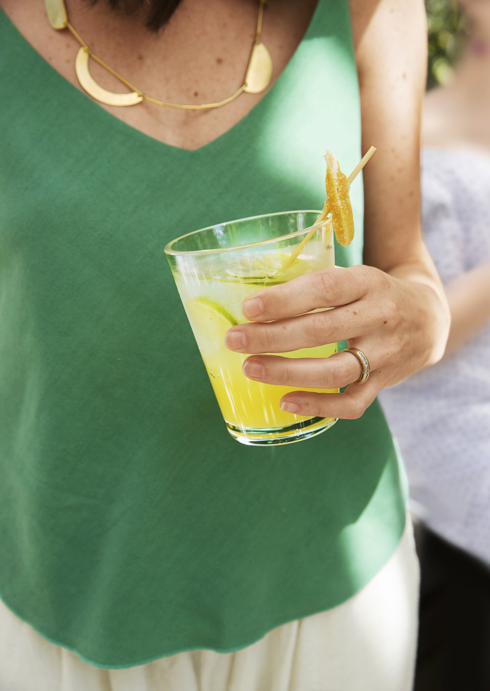 Nate Berkus Summer Party-Ginger Cocktail
