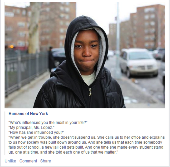 Vidal, student at Mott Hall Bridges Academy in Brownsville, Brooklyn, NY.