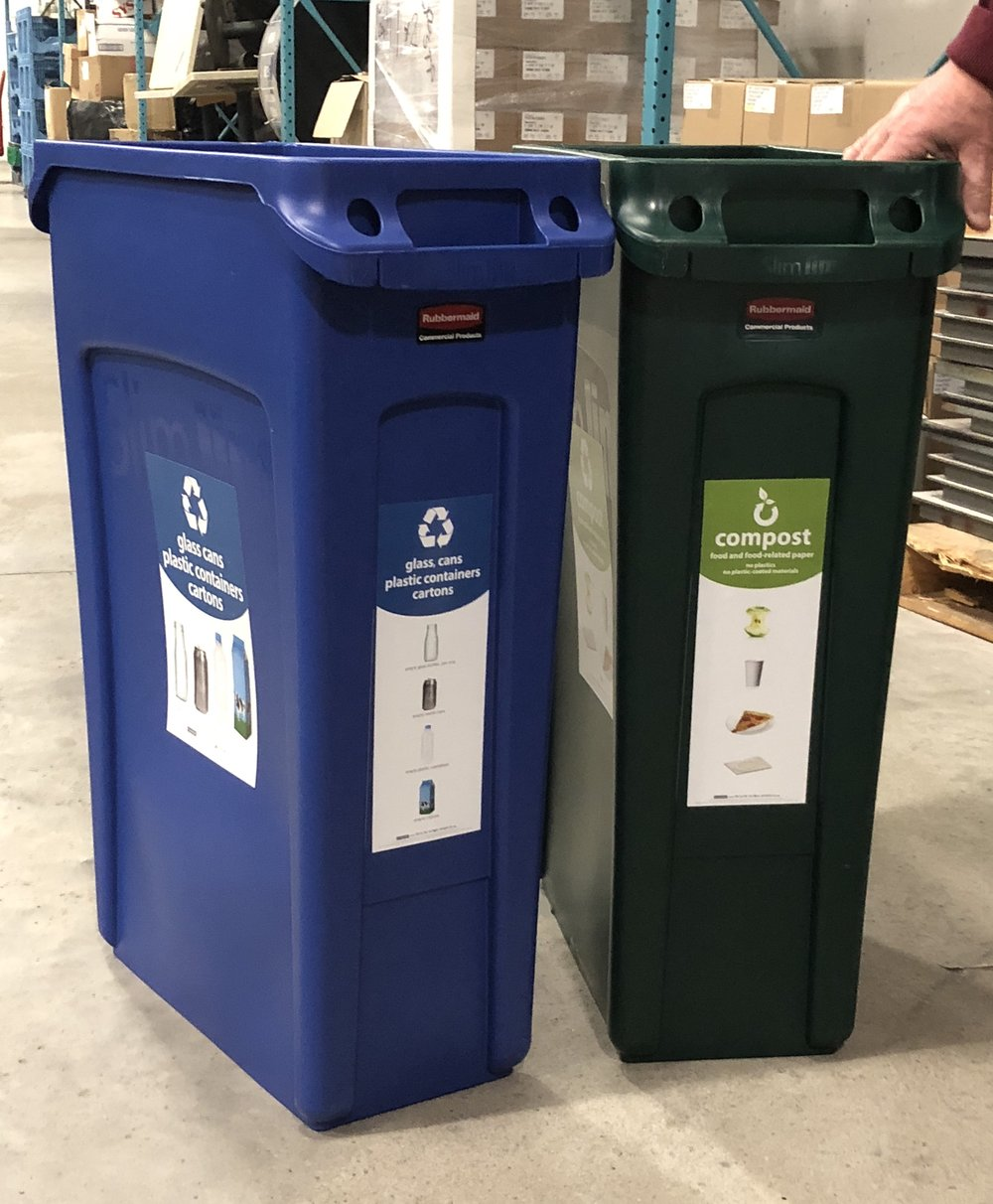 Example of Recycle Across America's standardized signage in use. These signs are used at U.S. Bank Stadium, MSP Airport, the MN State Fair, throughout the National Park System and countless other locations across the country. If you fly from Orlando to JFK in New York, you'll see the same signs on the bins, which will help you #RecycleRight
