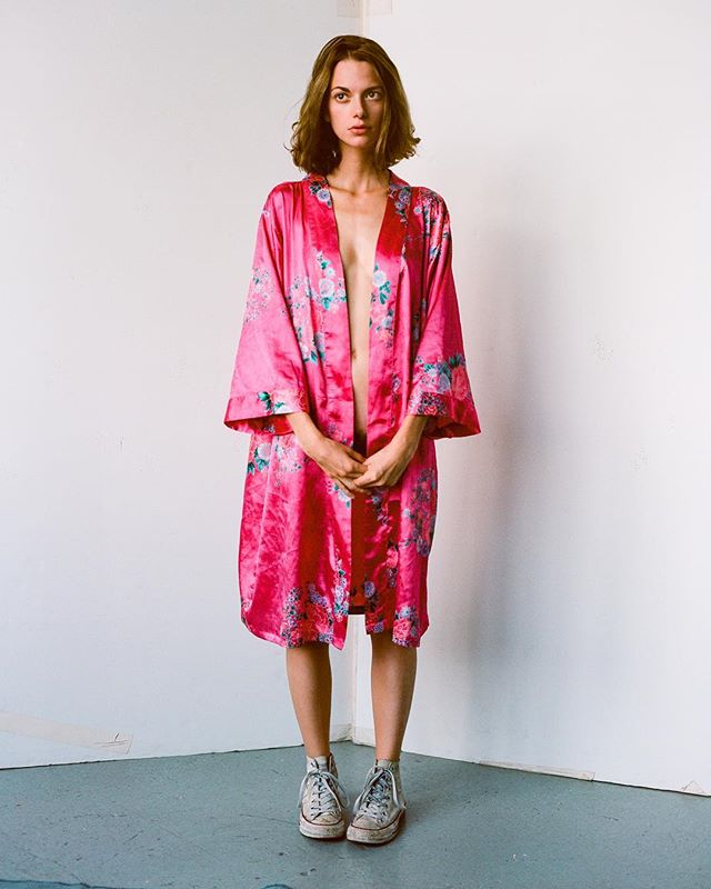 @princessfairylai in a pink robe.