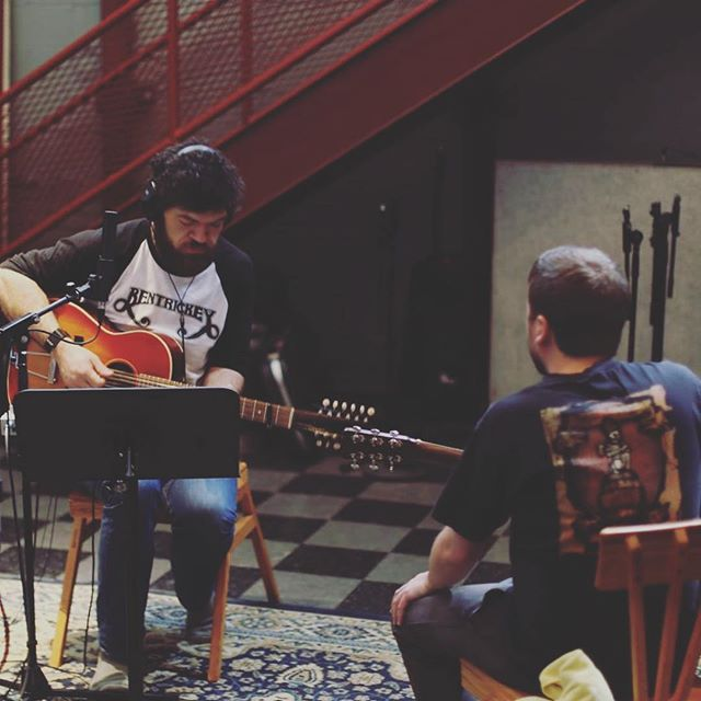 "John and Brandon will be on @wvbrfm tomorrow at 6 for Tuesday's with the Band to talk about ""Grown-Up Situations"" We'll share songs from the record and perform some acoustic versions in studio as well. 93.5 FM for Ithaca locals or stream on WVBR.com"
