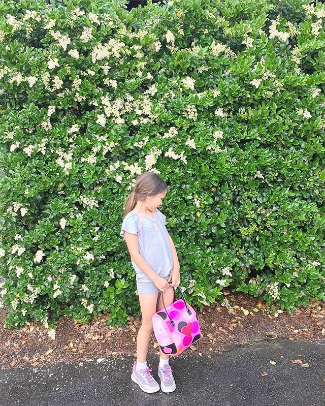 It's all honeysuckle and legs for days here. A hop and a skip away from turning 8, and how have I been a mom for that long?? #lotsofmistakes #evenmoregrace