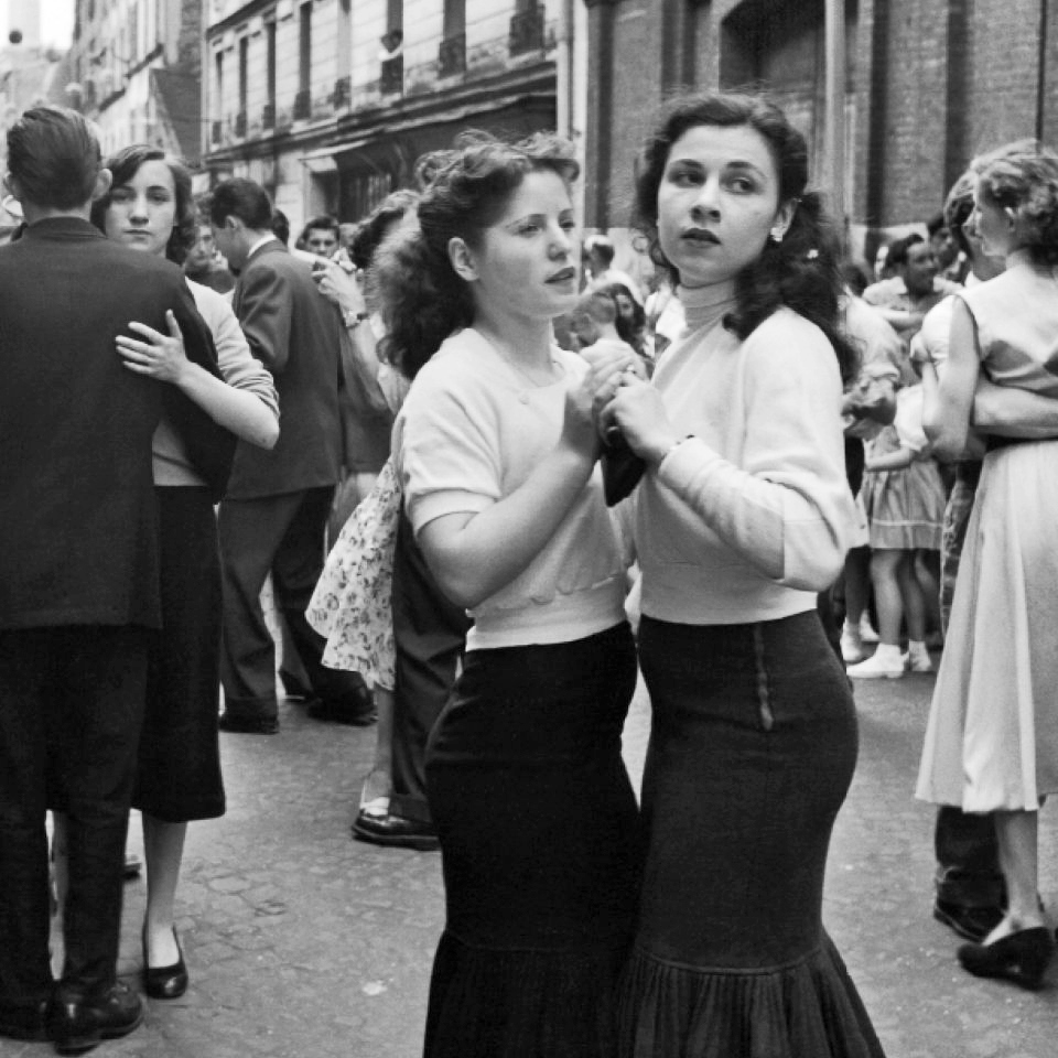 [ Robert Doisneau - Artsy Page ]     liquidnight :    Robert Doisneau    July 14 Party in the Street   Paris, 1956  [via  Le CLown Lyrique ]