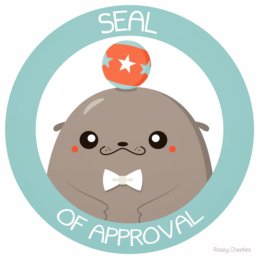 roseycheekesblog: Seal of Approval What a pun :B see you at Unplugged!
