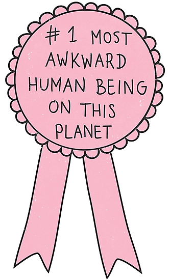 redbubble :   Most Awkward Human Being by  meandthemoon  |  Purchase on Redbubble