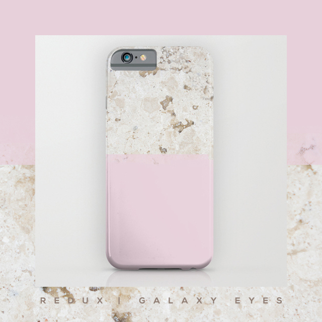 Super excited about Galaxy Eyes' new collection, Redux! Following the success of Sorbet Collection, we came up with a whole new, fresh series, featuring pastel shades and awesome marble textures. The designs are available for iPhone (iPhone6 included), Galaxy S, tablets, pillows, wall clocks and more!  Take a look at the other designs and get them at our Society6 and Redbubble shops! We really, really hope you like it! <3