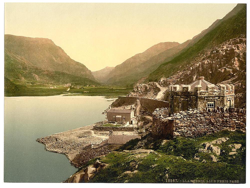 Lyn Peris Pass, Llanberis, Wales. 1890 - 1900
