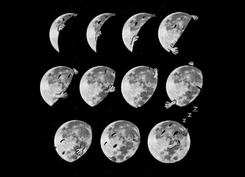 hunsonisgroovy: Lunar Phases of Sleep