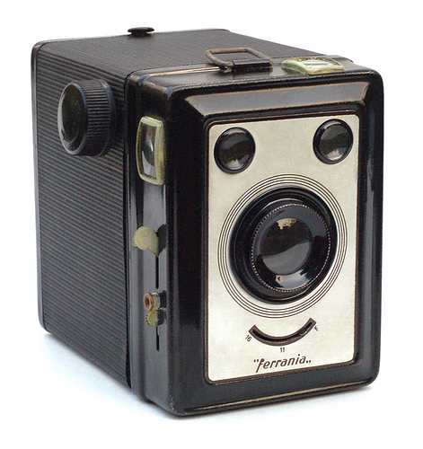 photojojo :     How can you  not  smile at this camera?    Ferrania Zeta Duplex by John Kratz )      via  c86