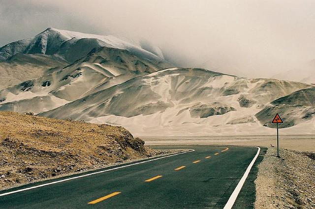 theworldwelivein: Driving the Karakoram highway | Karakoram, Xinjiang, China © Nicolas Monnot