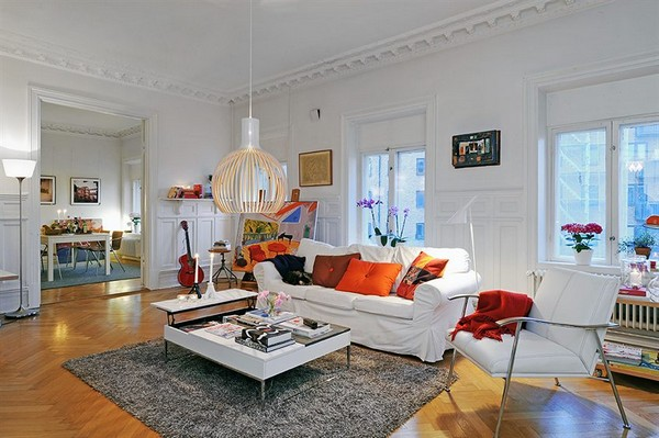 musesofdesign :      Colorful and Spacious Apartment Perfect for Having Friends Over