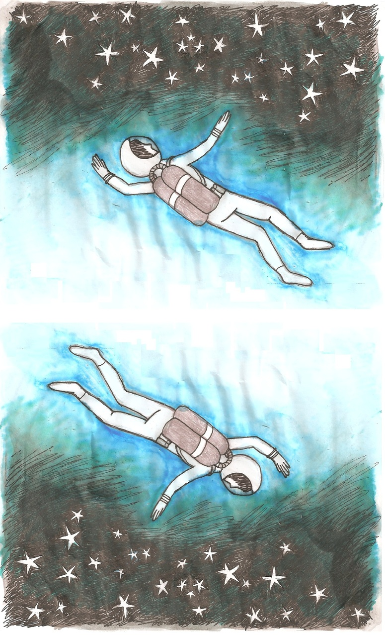 themadeshop :     The boy wanted to become an astronaut so he could wish upon the stars. But, he was afraid of heights. So, he became a diver instead and he wished upon the starfish.   (from the Tiny Book of Tiny Stories, via  hitRECord )