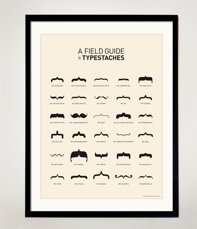 fuckyeahtypography :     A Field Guide to Typestaches | Support Movember