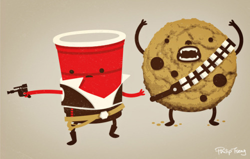 hunsonisgroovy: Han Solo Cup & Chewbacca the Cookie