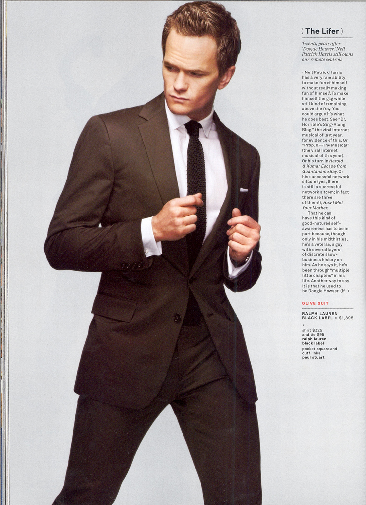 howimetyourmothersource: infinite98: To answer my own question previously…I think Neil owns anyone in a suit, any day. Yum. Perfection wears a suit.