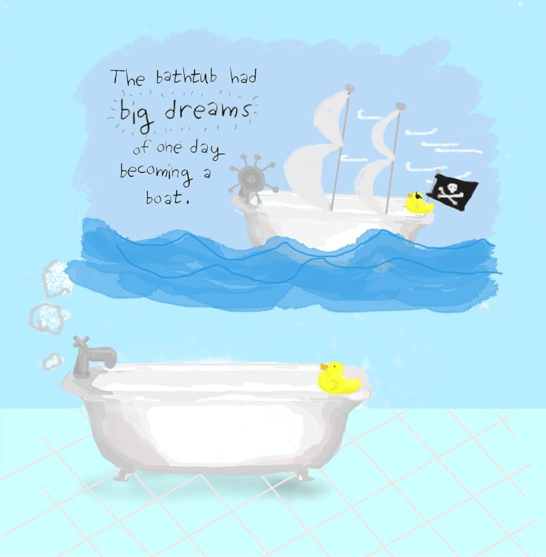 Tiny Story: Bathtub    by  katt .