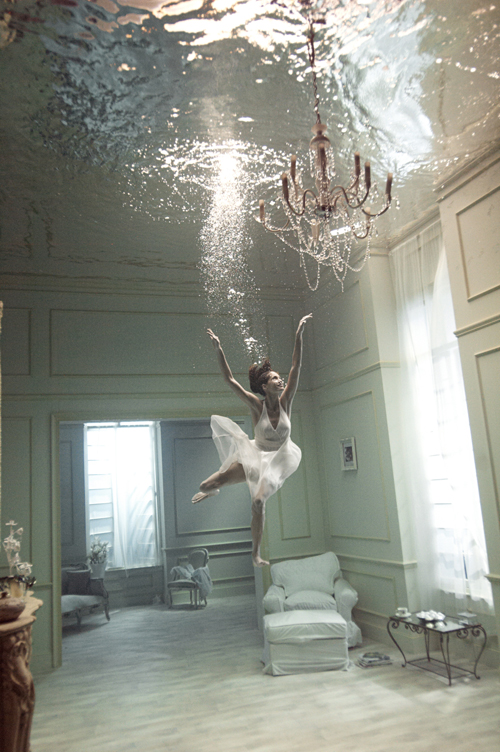 clemlin :      yopaintmyworld :     Swimming in your living room     Now, all it takes is being able to breathe underwater.