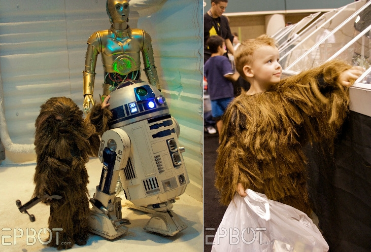 thedailywhat: Kickass Cosplaying Kid: Adorable Mini-Chewie kid at Celebration V gives Comic Con's Lil' Captain Mal a run for his cute money. [gws.]