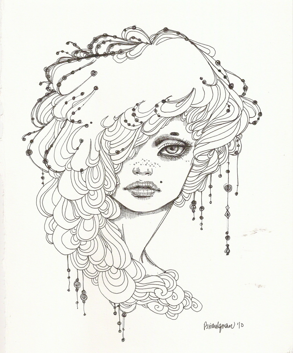 eatsleepdraw: Odette - Ink I am known to be addicted to Micron pens. I draw a lot : Brianignacio.tumblr.com