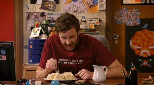 "fyeahtheitcrowd: innesz: ""Nothing is any good if other people like it"" Best t-shirt ever."