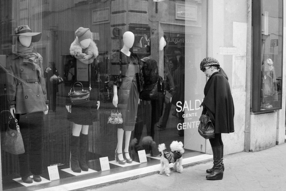 Window shopping in Rome, Italy. 2012