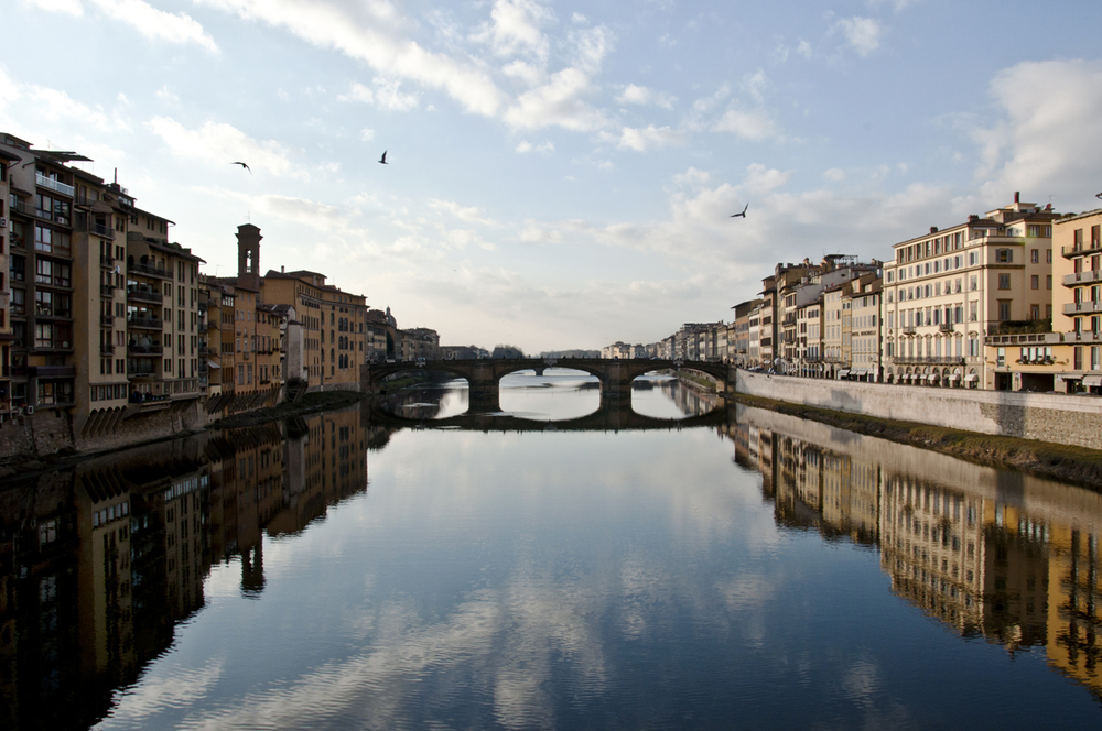 View from Ponte Vecchio, Florence, Italy. 2012