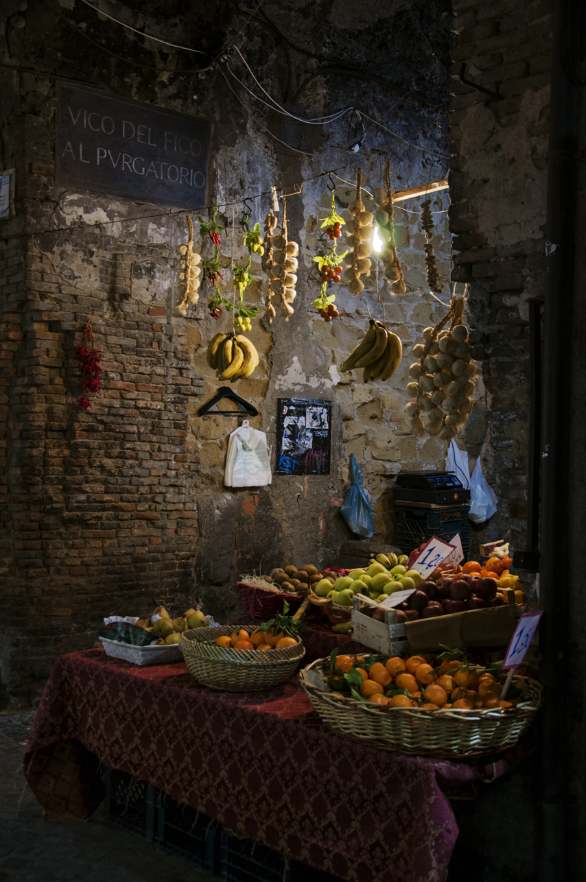 Alley vendor in Naples, Italy. 2012