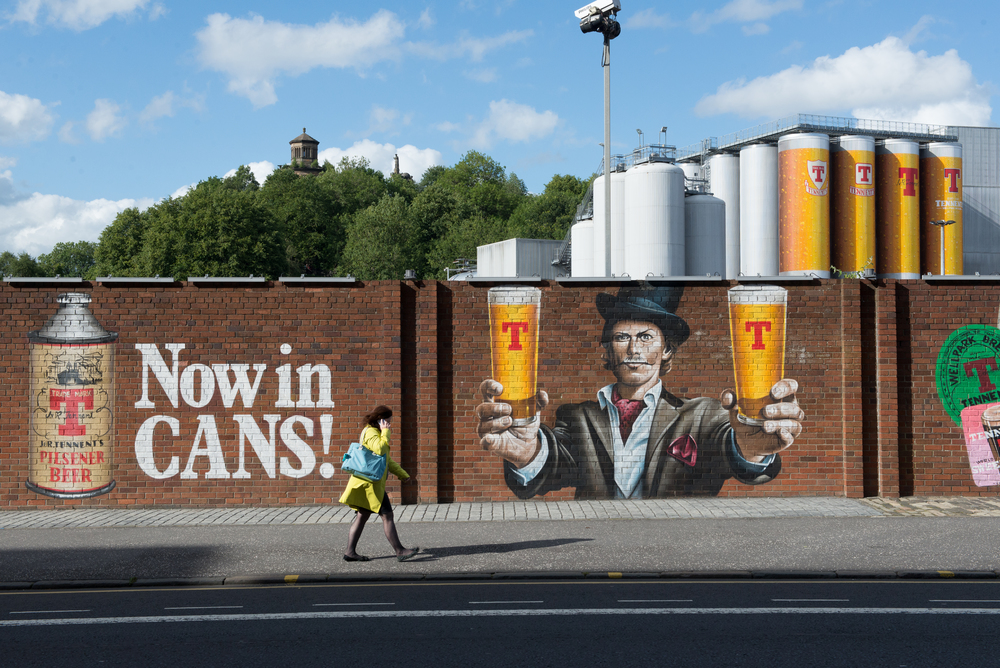 Tennent Caledonian Breweries, Glasgow, Scotland. 2015