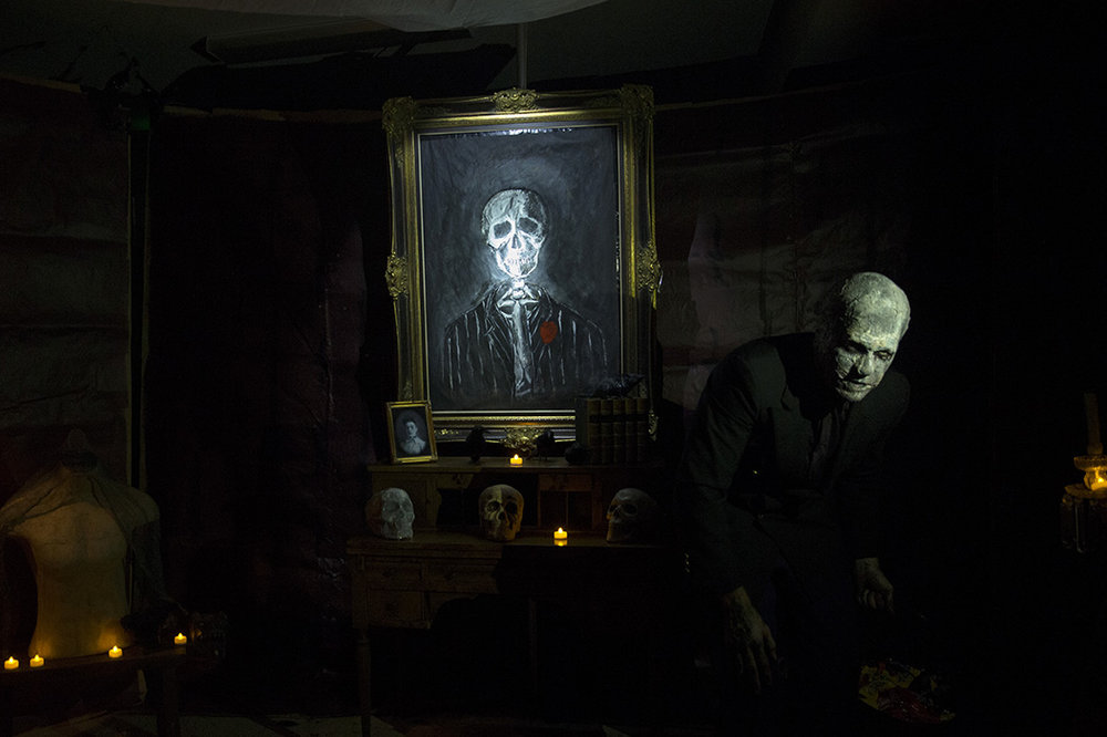 Dan Sexton stands in his garage that he decorated top to bottom for Halloween in the Lake Park neighborhood of Naples, Florida on Monday, Oct. 31, 2016.