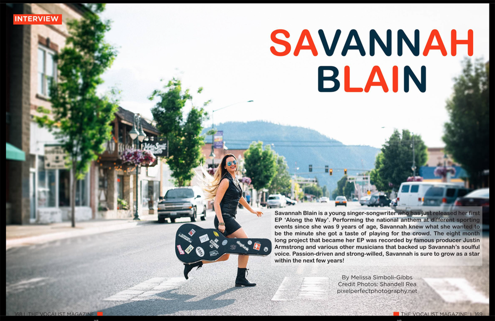 "Guess what?! I had the pleasure of photographing the beautiful, talented,  upcoming singer Savannah Blain for her feature in ""THE VOCALIST MAGAZINE""! Our photos and interview span 8 pages of this international magazine! Grab your online or paperback issue here: http://www.magcloud.com/browse/issue/949193"