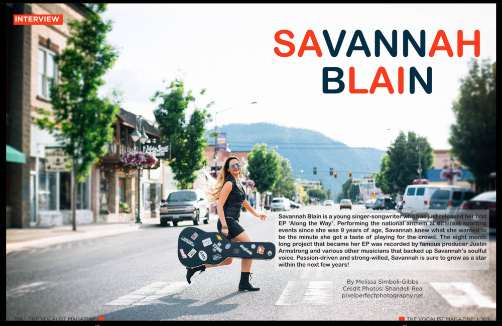 The Vocalist Magazine Savannah Blain