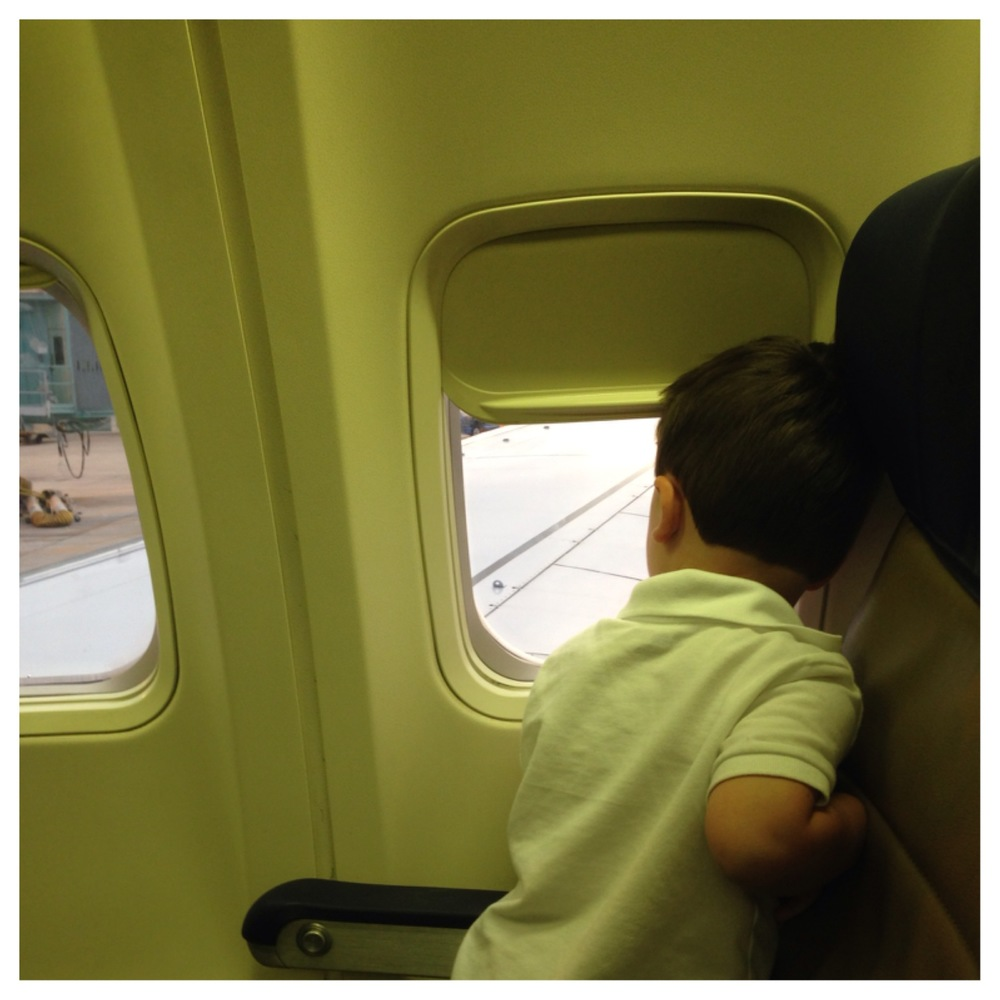 Jack loving looking at all the airplanes
