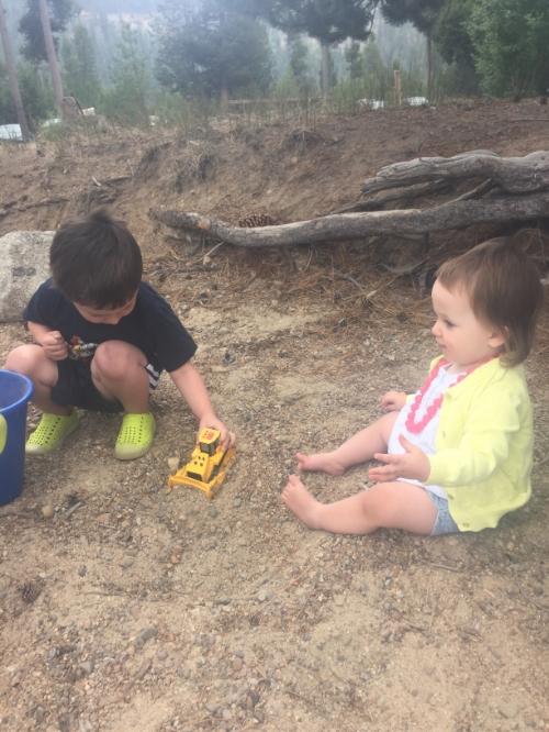 Playing at Donner Lake
