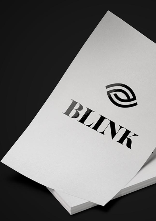 blink visual identity, digital, print